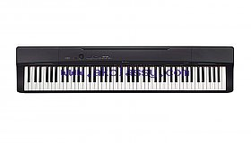 Casio Privia PX-160BK 88-Key black and white.