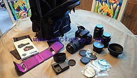 Canon EOS Rebel T7i   EOS 800D 24.2MP w  75-300mm, 28 135, and 50 w many extras