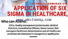 Technical Seminar on APPLICATION OF SIX SIGMA IN HEALTH CARE