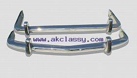 BMW 1500-2000 NK Bumper 62-72 in stainless steel