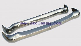 Opel Rekord P1 Bumper 57-60 in stainless steel
