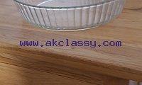 Pyrex glass flan dish