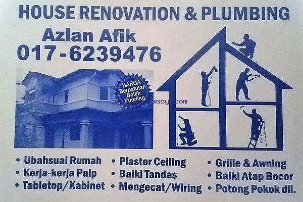 plumbing dan renovation azlan afik 0176239476 wangsa maju