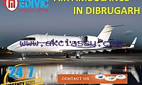 Use Advanced Air Ambulance Service in Dibrugarh with ICU Care by Medivic
