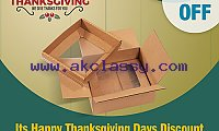 It's Happy Thanksgiving Day Discount On Custom Packaging Boxes | RegaloPrint