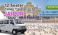 12 Seater Tempo Traveller on rent in Jaipur - Harivansh Tours