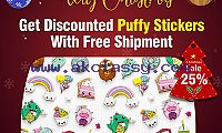 Get Discounted Puffy Stickers With Free Shipment - RegaloPrint