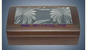 Crystal Hand Engraving Wooden Box in Dubai