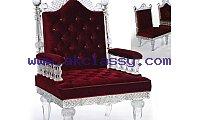 Maroon Color Crystal Royal Chair in Dubai