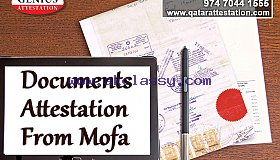 Documents required for MOFA attestation