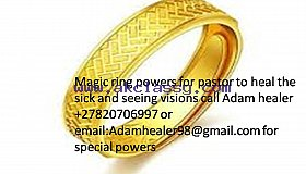 Spiritual magic ring for pastors to heal and see visions +27820706997