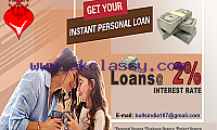 PERSONAL LOAN/DEBT CONSOLIDATION LOAN AT ONLY 2% INTEREST,APPLY NOW