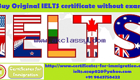 Buy IELTS certificate without exam.,
