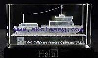 Crystal 3D Cargo Ship Laser in Dubai