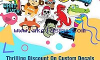 Thrilling 20% Discount On Custom Decals With Free Shipment - RegaloPrint