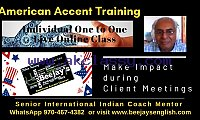 Beejays Online Skype American Accent Training with Live Tutor