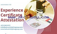 Experience Certificate Attestation in Bahrain