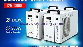 S&A air-cooled water chiller CW-5000 for cooling CO2 laser marking machine