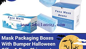 Mask Packaging Boxes at 15% Bumper Halloween Offer & Free Shipment – RegaloPrint