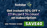 Dream11 IPL 2020 US Hotstar annual Subscription Pack. Get 10% Instant Discount.