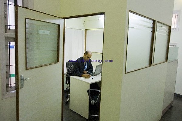 Fully Furnished & Professional Enclosed Manager Cabin for rent@ Canaans