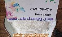 Tetracaine hcl/tetracaine powder CAS 136-47-0 popular in Europe