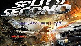 SPLIT SECOND-RACING Laptop/Desktop Computer Game.