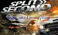 SPLIT SECOND-RACING Laptop/Desktop Computer Game.