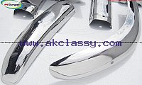Volvo PV 544 Euro type bumper kit (1958-1965) stainless steel