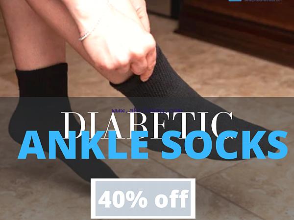 Get Instant 40% Off on Diabetic Ankle Socks