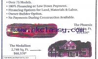 Build Your Own New Custom Home U.S.A.-Only
